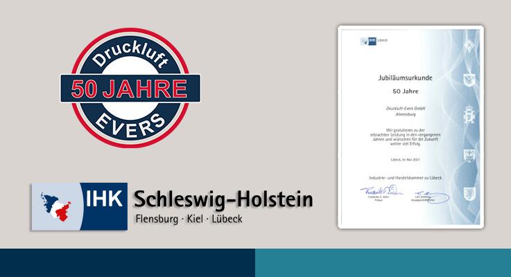 IHK Lübeck gratuliert zum Firmen-Jubiläum